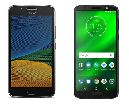 Del Motorola Moto G5 y Moto G5 Plus al Moto G6 y Moto G6 Plus: esto es todo lo que ha cambiado