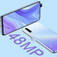 Huawei Y9s: 48 megapíxeles por detrás y cámara pop-up por delante en un diseño todo pantalla