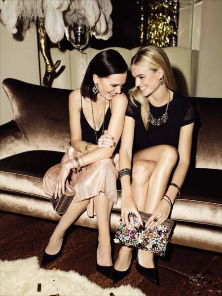Campaña catálogo Accessorize otoño-invierno 2014/2015 modelos Ann Brewster Milou Sluis y Shanina Shaik