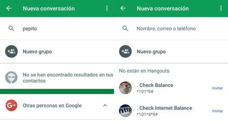 Hangouts 16.0 elimina la pantalla de contactos y los reorganiza para que estén más ordenados