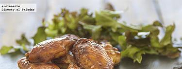Alitas de pollo laqueadas con salsa hoisin y sirope de arce. Receta