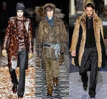 Los abrigos masculinos toman su inspiración en el invierno ruso