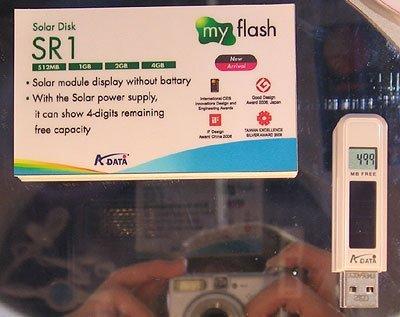 [CES 2007] Memoria USB solar
