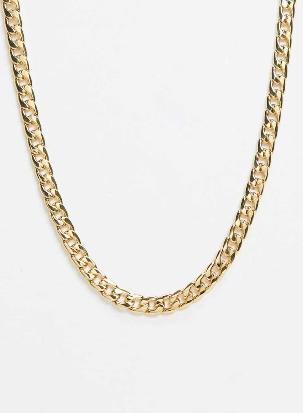 Collar de cadena barbada de 10 mm chapada en oro de 14 quilates de ASOS DESIGN Curve