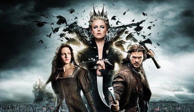 Imagen con el cartel final de 'Blancanieves y la leyenda del cazador'