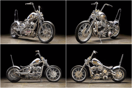 "Ewan McGregor vende ""The Machine"", una custom única con el alma del mítico Indian Larry"