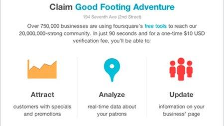 Foursquare ya permite a las empresas de todo el mundo la verificación instantánea de su negocio