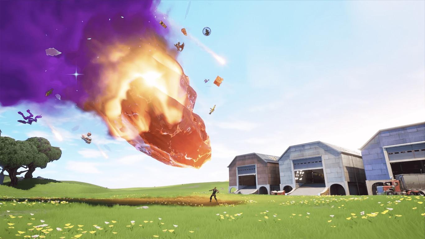 Desafío Fortnite: Aterriza en Polvorín Polvoriento y visita el meteorito en una misma partida. Solución
