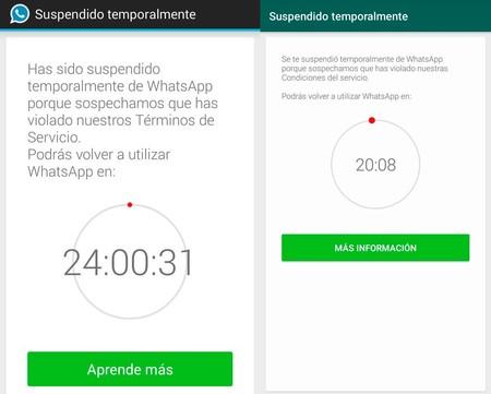 Whatsapp Suspendido Temporal