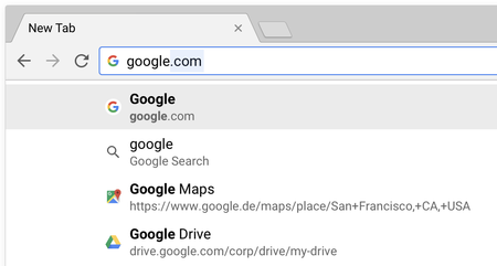 Google Favicons Chrome