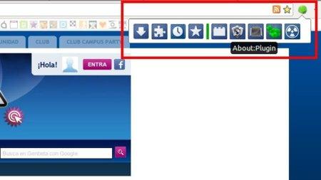 Megabutton: accede a las páginas especiales de Chrome desde un botón