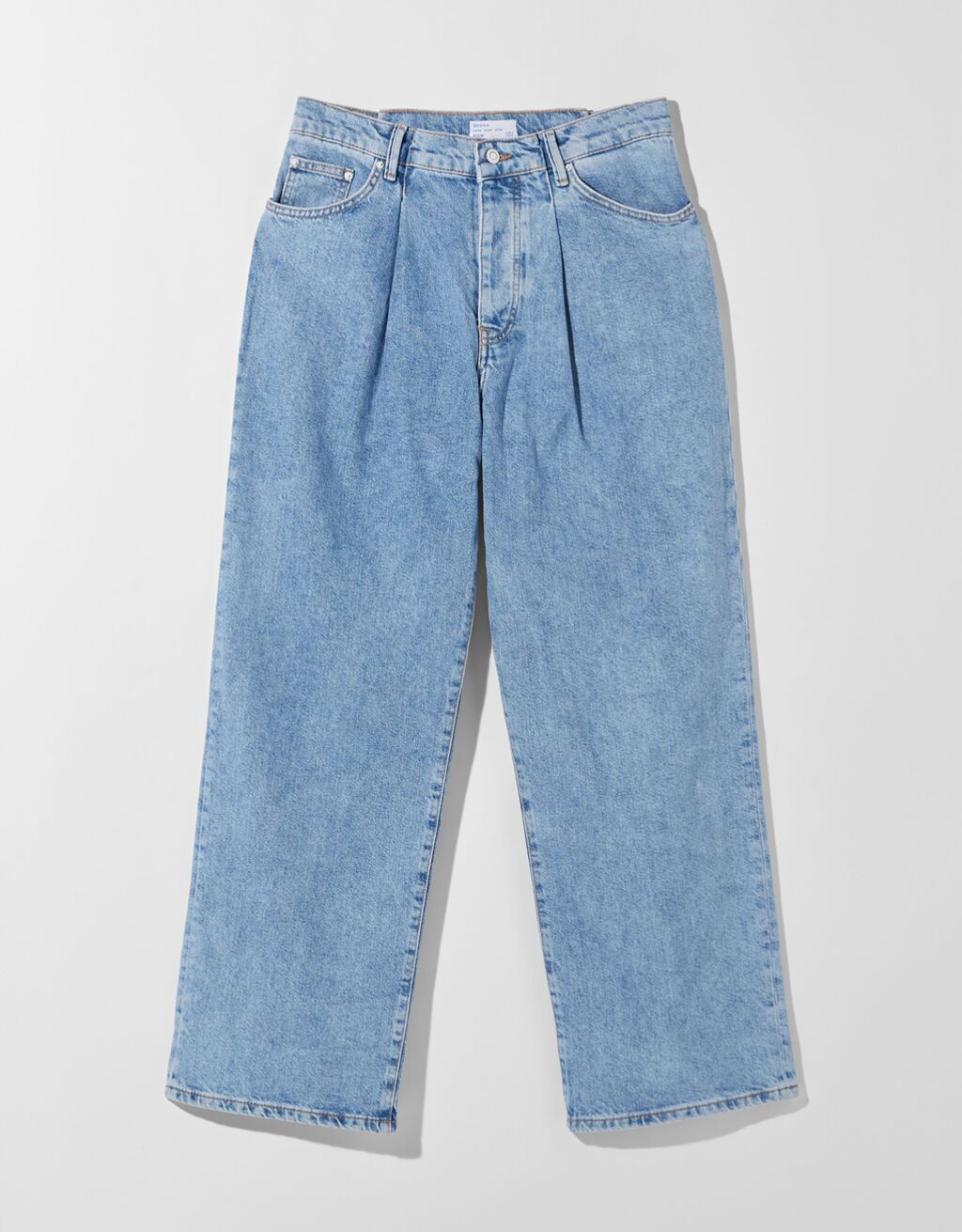 Jeans extreme baggy con pliegues