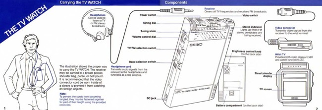 Seiko Tv Watch How To Use It