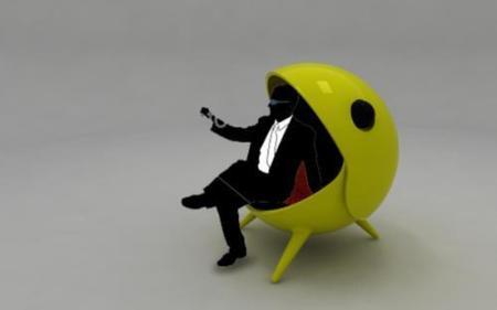 Silla Pac-man, para adictos a los videojuegos
