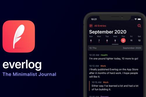Everlog es una app minimalista para anotar todos tus diarios en el iPhone y iPad que siempre querrás usar