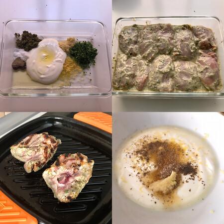 paso a paso pollo a la barbacoa marinado en yogur y hierbas
