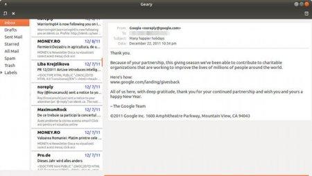 Geary, un nuevo cliente de correo ligero para GNOME