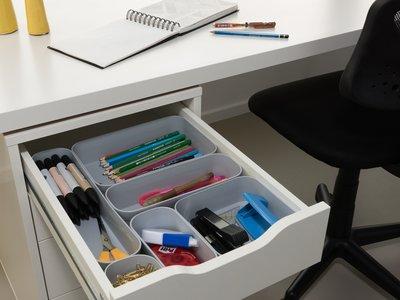 En las cajas de distintos tamaños está el secreto para unos cajones bien organizados