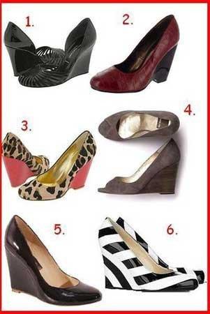 Zapatos de cuña, la última moda