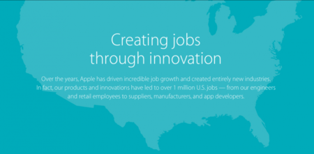 Jobs created by Apple