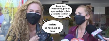 Rocío Carrasco bromea ante los medios con Anabel Dueñas sobre su secuestro