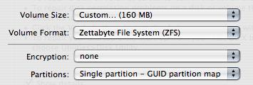 Sistema de archivos ZFS soportado en Leopard
