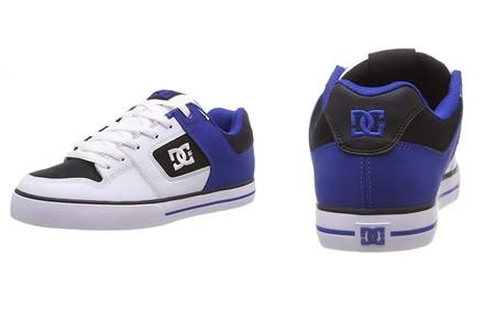 Por 35,95 euros tenemos estas  zapatillas DC Shoes Pure en blanco y azul en Amazon
