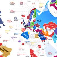 El coche más vendido en cada país del mundo, en un detalladísimo mapa