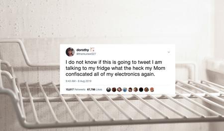 [Actualizado] Su madre le confiscó el teléfono, pero esta adolescente consiguió seguir publicando tweets gracias a su frigorífico inteligente
