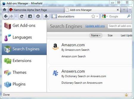 Nuevo administrador de extensiones para Firefox