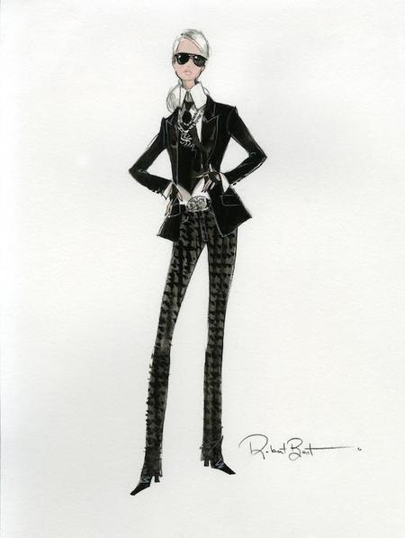 Karl Lagerfeld viste a Barbie