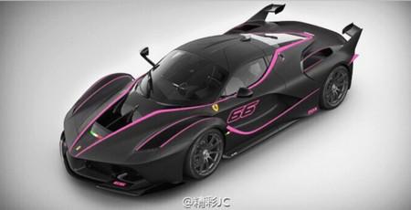 ¿Pedirías tu Ferrari FXX K así, en negro y rosa?