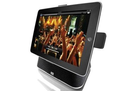 Cuatro bases dock en las que colocar el iPad