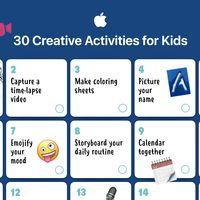 El equipo de educación de Apple publica un calendario de 30 actividades creativas para niños