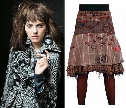Abrigo y falda de Desigual
