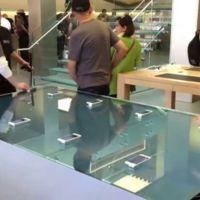 Apple promociona el nuevo 3D Touch del iPhone 6s con una enorme mesa interactiva