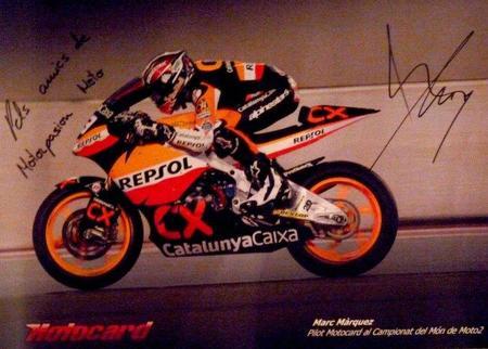 Póster firmado Marc Márquez para Motorpasión Moto