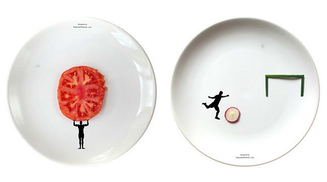 Platos para jugar con la comida