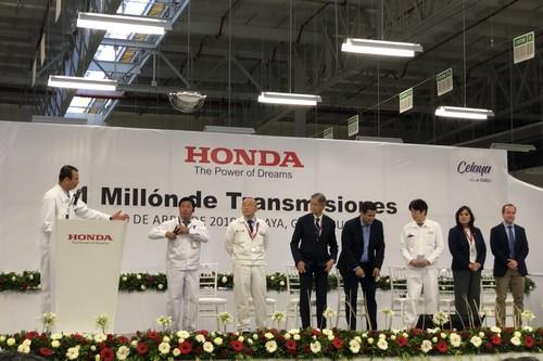 Honda celebra 1 millón de transmisiones producidas en su planta de Celaya, Guanajuato