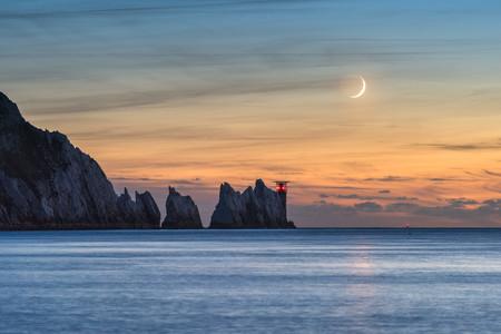 Crescent Moon Over The Needles C Ainsley Bennett Mini