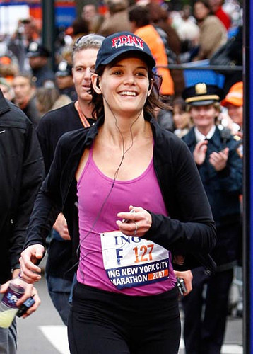 ¿Corrió realmente Katie Holmes la maratón de Nueva York?