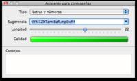 Genera contraseñas seguras con Mac OS X
