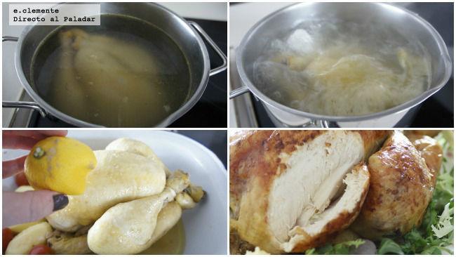 Pollo asado a las dos cocciones