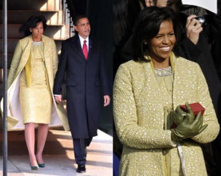 El vestido de Michelle Obama en la ceremonia inaugural de Barack Obama