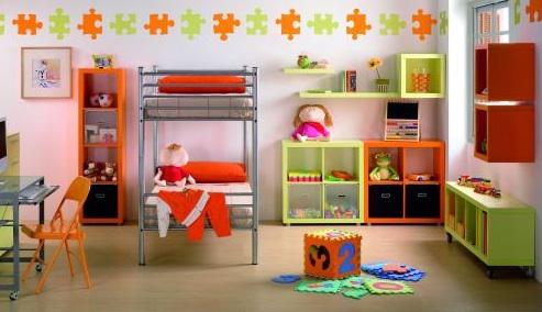 Decora la pared de un cuarto infantil - Organizar habitacion ninos ...