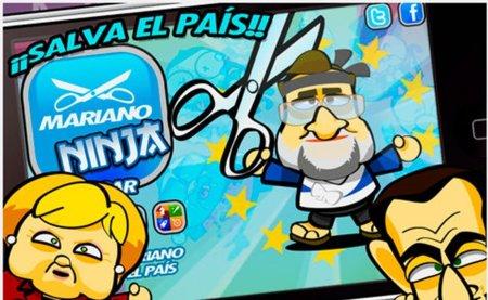 Mariano Ninja!, acaba con la crisis en tu móvil a base de recortes