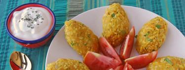 Kibbeh de lentejas rojas y bulgur con calabaza. Receta