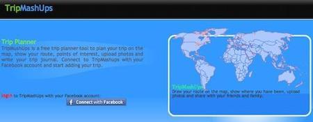 TripMashUps, comparte tus rutas de viaje en Facebook