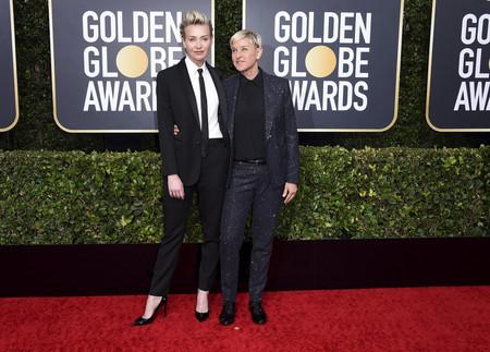 Ellen Degeneres y Portia de Rossi globos de oro 2020