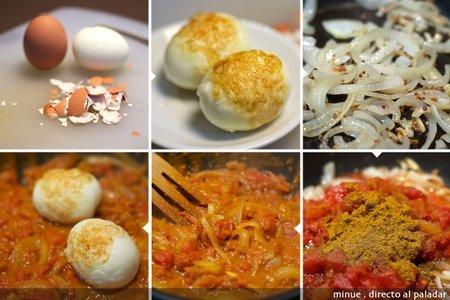Huevos al curry - elaboración